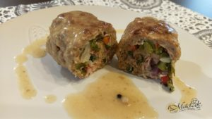 przkrojone gotowe zrazy z mięsa milone