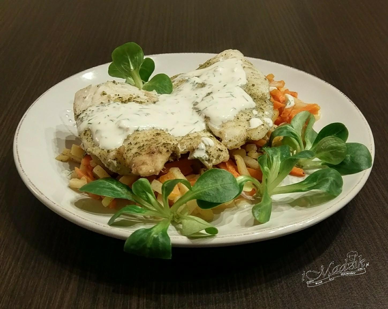 Filet z sandacza na parze z warzywami