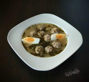 Zupa chrzanowa z klopsikami z białej kiełbasy