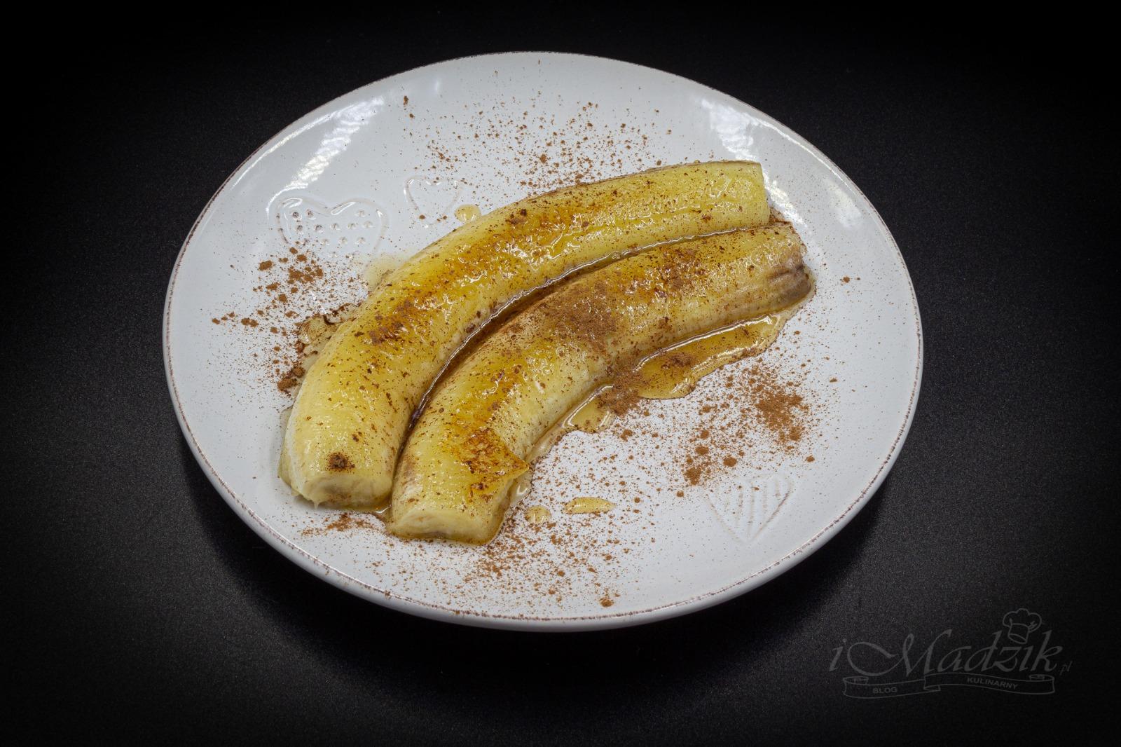 Banan smażony na miodzie